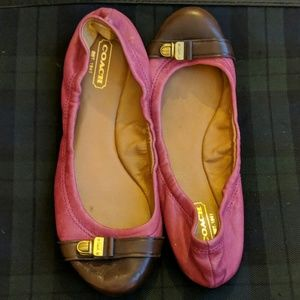 Coach Delphine leather ballet flats